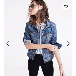 Madewell Jean Jacket in Pinter Wash, Size XS
